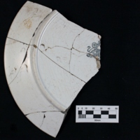 Whiteware Plate (reverse a)